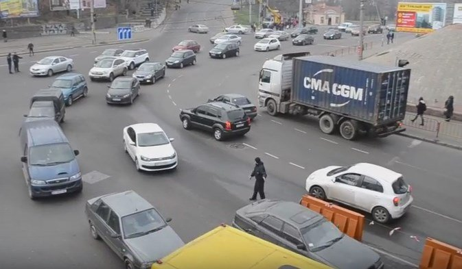 Одесса: в городе произошел транспортный коллапс из-за смены разметки, видео youtube