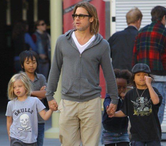 Брэд Питт: актер считает, что имеет право находиться рядом с детьми